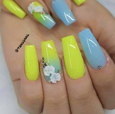 Neon Nails, Beauty, Beauty Illustration, Nails