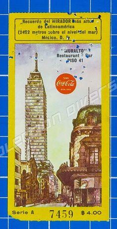 México - Old Ticket Entrance to Mirador Torre Latinoamericana Logo Coca Cola