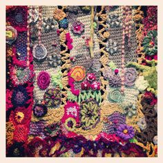 freeform crochet quilt
