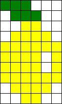 Full Lemon Perler Perler Bead Pattern / Bead Sprite