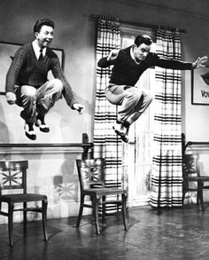 Donald O'Conner & Gene Kelly in Singing in the Rain.  No one has ever done it better.