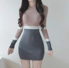 Korean Fashion – How to Dress up Korean Style – Designer Fashion Tips Cute Fashion, Trendy Fashion, Girl Fashion, Fashion Dresses, Style Fashion, Fashion Boots, Fashion Ideas, Winter Fashion, Mode Outfits