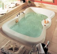 two person whirlpool bathtub