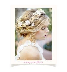 "Peinado de trenza con flores para novia; ""Tendencia De Peinados Para Novia 2014"" en http://mariareneeluz.tumblr.com/post/76443539697/boda-tendencia-de-peinados-para-novia-2014"