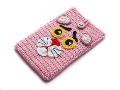Luty Artes Crochet: Porta celular