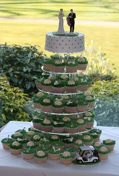 Golf Themed Wedding Cake Toppers Uk