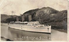 S.S. Empress of Britain, Cruise Ship, Panama Canal