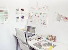 Heart Handmade UK: The Home Office | Facil y Sencillo | My Dream White Office Space!