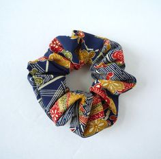 Kimono Scrunchie Japanese Fabric Shushu Vintage by tomoandedie (Accessories, Hair, Scrunchie, kimono scrunchie, kimono scrunchies, hair accessories, hair kimono, japanese present, japanese textile, japan nihongo, ethical eco, made in usa, ship from usa, kimono hair, scrunchie fabric, gift for her)