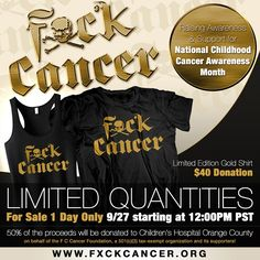 42ad9b41822  FUCKCANCER  amp  Go GOLD for the kids! As National Childhood Cancer  Awareness Month