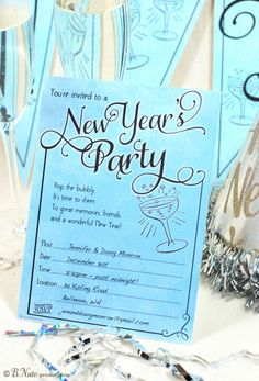 love the nye invite saying new year printables party printables free printables free