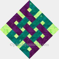 Quilting: Eternity Knot Paper Pieced Quilt Block