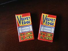 Velvet Edge Double Edge Razor Blades  New Old Stock by NOSVintage, $5.00