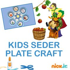 Talk about the traditions of Passover as you construct this craft with your child.