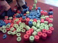 make foam blocks from pool noodles