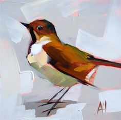 """Wood Thrush Painting"" - Original Fine Art for Sale - � Angela Moulton"