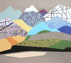 Original Landscape Painting by Lucie Jirku Colorful Paintings, Nature Paintings, Landscape Paintings, Original Paintings, Original Art, Workplace Design, Geometric Art, Online Art Gallery, Buy Art