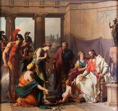 Pyrrhos.1791.Francois Andre Vincent. French 1746-1816. oil/canvas. http://hadrian6.tumblr.com