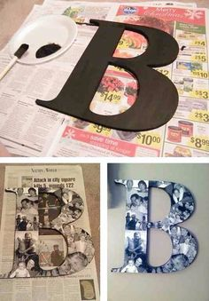 DIY Picture Monogram #Family #Trusper #Tip