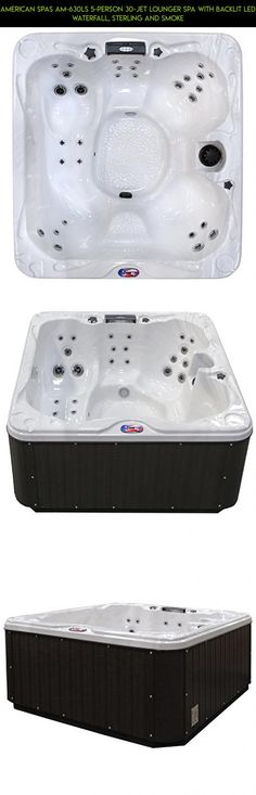 American Spas AM-630LS 5-Person 30-Jet Lounger Spa with Backlit LED Waterfall, Sterling and Smoke #technology #plans #with #products #racing #tubs #fpv #shopping #parts #camera #loungers #drone #tech #gadgets #hot #kit