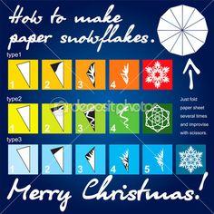 3 paper snowflakes