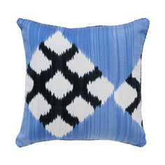 Blue Clair Simon handwoven ikat pillow. New (May 2012) from @Madeline Weinrib.