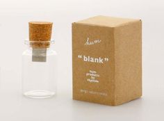 Messages in a bottle: blank USB drive designed by Saburo Sakata.