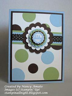stamping up baby boy shower invitation - Bing images Baby Boy Cards, New Baby Cards, Baby Shower Cards, Baby Kind, Kids Cards, Creative Cards, Cute Cards, Greeting Cards Handmade, Scrapbook Cards