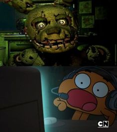 Darwin Watterson reacts to Springtrap by MarcosPower1996