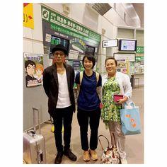 二戸駅で偶然、大杉漣さんとお会いしました。 映画祭でのライブの帰りだったそうです。 めちゃくちゃかっこ良かった…! えりさんのトートバックが素敵です。