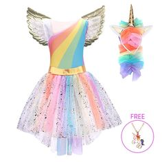 Girls Unicorn Costume Princess Dress New 2019 Girls Prom Cosplay Tutu Dress With Headband Summer Dresses for kids Girls belababy Unicorn Princess Dress Dress With Dresses Kids & Baby - Toys Girls Dress Up, Dresses Kids Girl, Girls Party Dress, Girl Outfits, Dress Up Costumes, Girl Costumes, Toddler Unicorn Costume, Cosplay, Unicorn Outfit