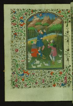 Annunciation to Shepherds  Text: Hours of the Virgin: Terce - Book of Hours-Bruges-W246