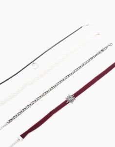 At Stradivarius you ll find 1 Set of 4 moon and star chokers for woman d4be2204e8c