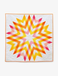 """BE-autiful """"Outburst"""" quilt by Kyndra & Travis Brown of Sewlio. Pattern available for $10 here: https://www.etsy.com/listing/189532733/outburst-quilt-pattern"""