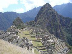 UNESCO World Heritage Site Machu Picchu in Peru