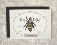 Wit & Whistle » bee's knees card
