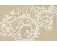 Cosa Bella Beige, Cream Wool/ Art.Silk Tufted Rug-- jackandjillboutique.com-Free Shipping $90 and above