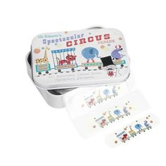 dotcomgiftshop plasters in circus parade tin £3.95