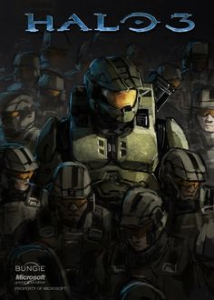 Halo 3 Art: Master Chief and the Marine Soldiers Halo 5, Halo Game, Halo Reach, John 117, Halo Armor, Halo Spartan, Halo Master Chief, Halo Series, Halo Collection
