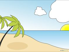 How to draw a beach scene step by step other landmarks places draw a beach scene altavistaventures Image collections