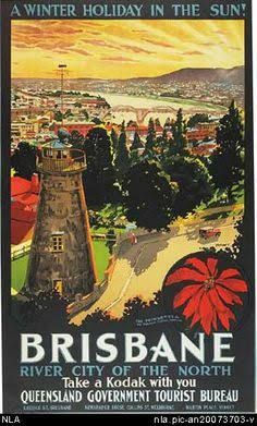 Image result for brisbane 1930s poster  [repined by sundry.com.au] #CarpetCleaningBrisbane #RugCleaningBrisbane