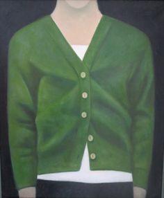 Martin Leman's GREEN CARDIGAN at the RA Summer Exhibition 2015