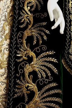 Embroidered detail/ Russian court dress of 1900.