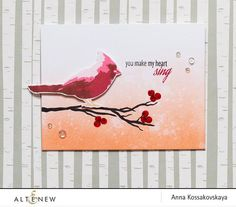 Winter Cardinal Stamp & Die Bundle - Altenew  - 1