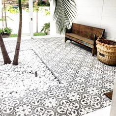 Best Ideas For Modern House Design & Architecture : – Picture : – Description Tile inspo, Jatana Interiors …. Patio Interior, Interior And Exterior, Casa Santa Rita, Design Balcon, Outdoor Rooms, Outdoor Living, The Grove Byron Bay, Patio Tiles, Terrace Tiles