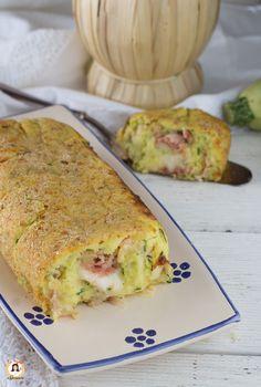 Rotolo di zucchine e patate filante Ricetta facile con prosciutto e formaggio Cotto al forno