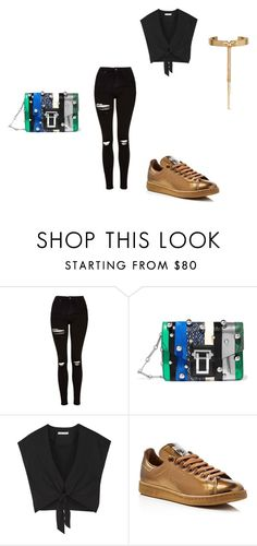 """""""Untitled #192"""" by bruingirl119 on Polyvore featuring Topshop, Proenza Schouler, Alice + Olivia, adidas and Eddie Borgo"""