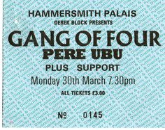 80's Pere Ubu Gang of Four