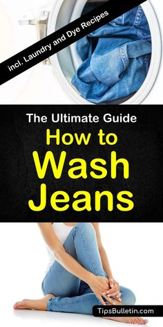 How to wash jeans - includes tips on washing denim without fading using vinegar and other home remedies. Comes with a recipe to dye your jeans at home.#washjeans #jeans #laundry