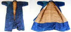 A thick padded winter kosode.